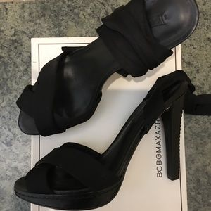 BCBG black sandals